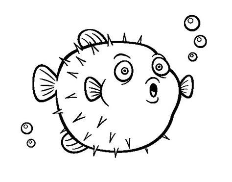 Dibujo de Pez globo para Colorear   Dibujos.net