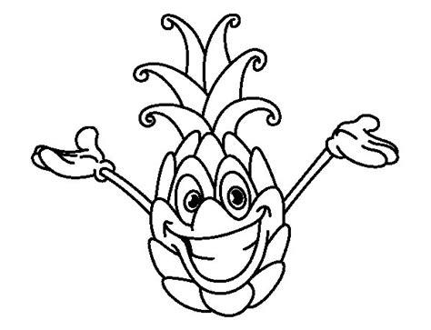 Dibujo de Piña alegre para Colorear   Dibujos.net