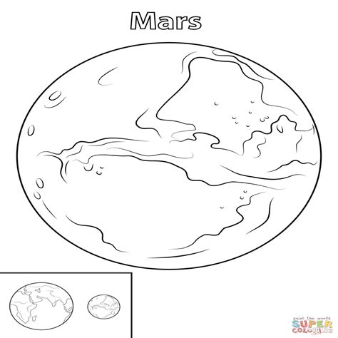 Dibujo De Planeta Marte Para Colorear Dibujos Para ...