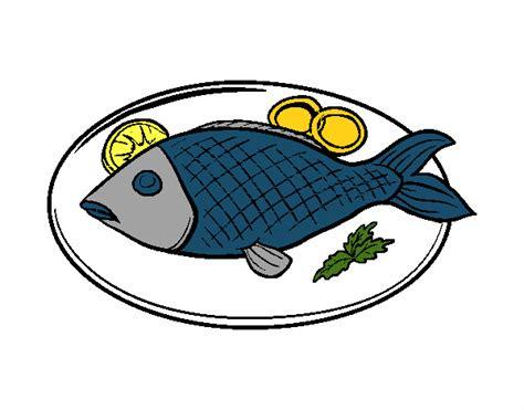 Dibujo de Plato de pescado pintado por en Dibujos.net el ...