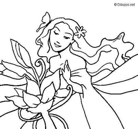 Dibujo de Primavera para Colorear - Dibujos.net
