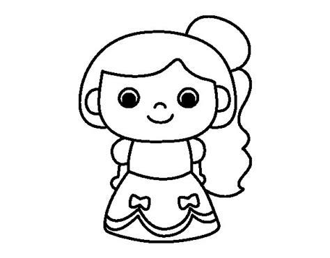 Dibujo de Princesa alegre para Colorear   Dibujos.net