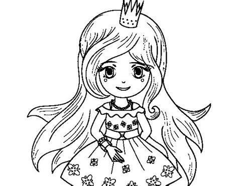 Dibujo de Princesa primavera para Colorear - Dibujos.net