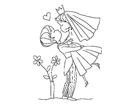 Dibujo de Puedes besar a la novia para Colorear - Dibujos.net