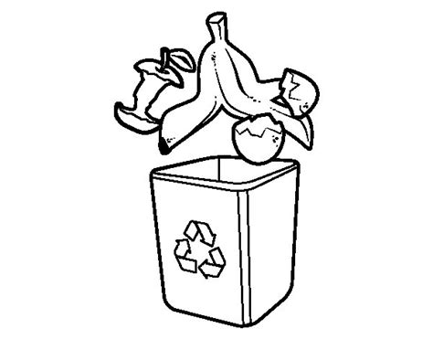 Dibujo de Reciclaje orgánico para Colorear - Dibujos.net