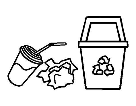 Dibujo de Reciclar Papel para Colorear - Dibujos.net