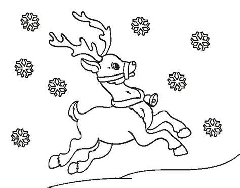 Dibujo de Reno de Navidad para Colorear - Dibujos.net