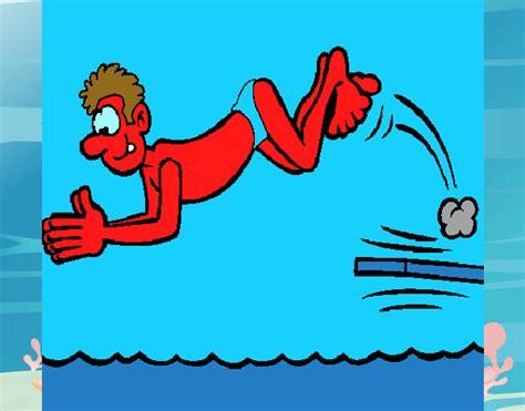 Dibujo de Salto de trampolín pintado por en Dibujos.net el ...