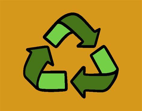 Dibujo de Símbolo del reciclaje pintado por en Dibujos.net ...