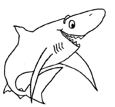 Dibujo de Tiburón alegre para Colorear   Dibujos.net