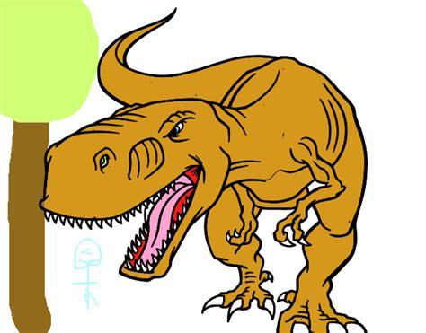 Dibujo de Tiranosaurio Rex enfadado pintado por en Dibujos ...