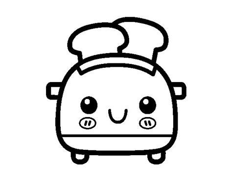 Dibujo de Tostadora de pan de molde para Colorear ...
