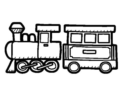Dibujo de Tren alegre para Colorear   Dibujos.net