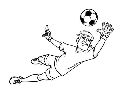 Dibujo de Un portero de fútbol para Colorear   Dibujos.net