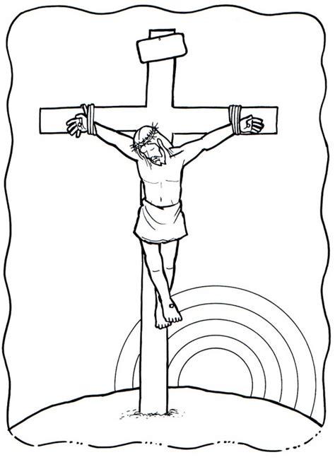 Dibujo de una cruz para colorear en Semana Santa ...