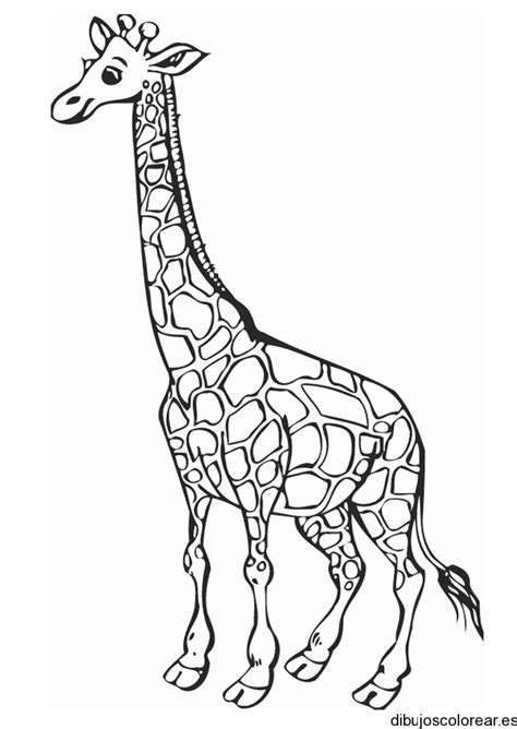 Dibujo de una jirafa sonriendo