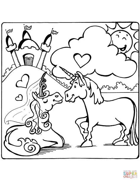 Dibujo de Unicornios enamorados para colorear | Dibujos ...