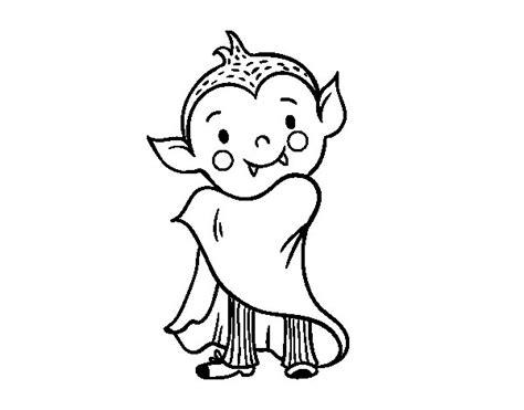 Dibujo de Vampiro de Halloween para Colorear - Dibujos.net