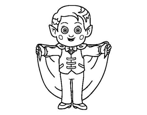 Dibujo de Vampiro Simpático para Colorear - Dibujos.net