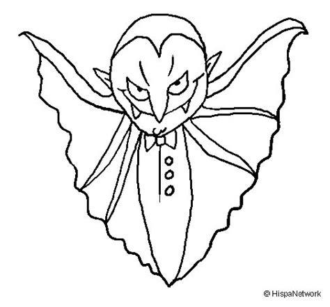 Dibujo de Vampiro terrorífico para Colorear - Dibujos.net