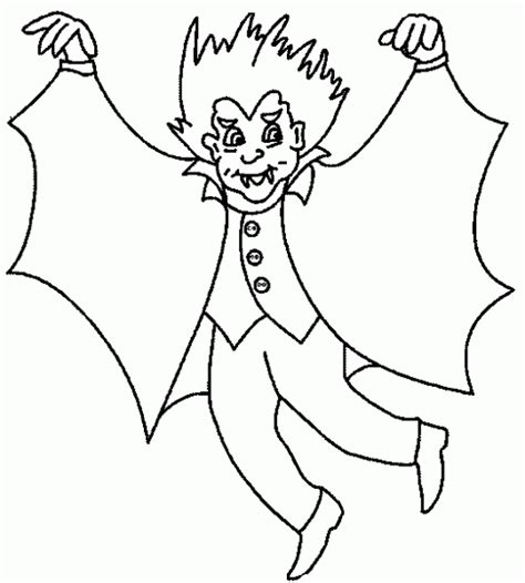 Dibujo de Vampiros para colorear. Dibujos infantiles de ...