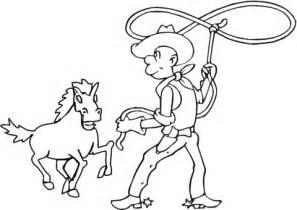 Dibujo de Vaquero Enlazando un Caballo para colorear ...