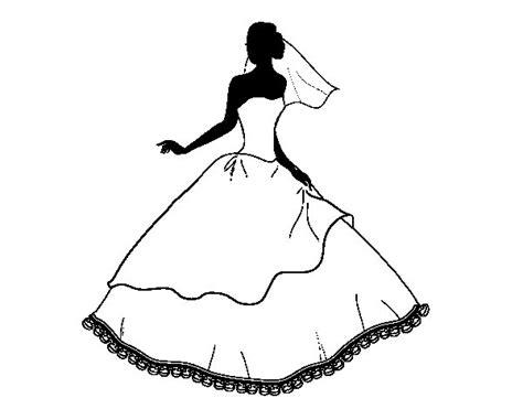 Dibujo de Vestido de boda para Colorear   Dibujos.net