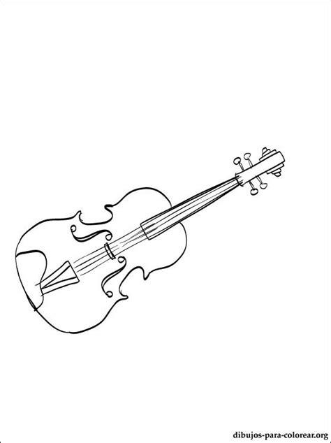 Dibujo de viola para imprimir | Dibujos para colorear