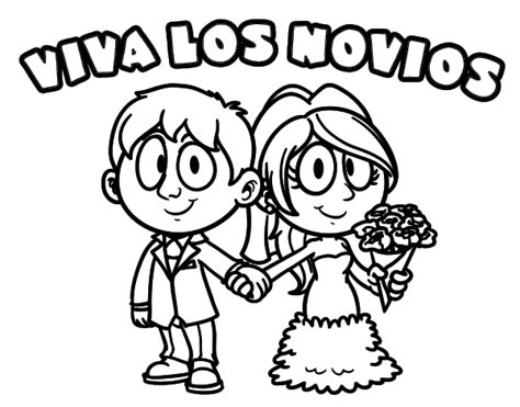 Dibujo de Viva los novios para Colorear   Dibujos.net