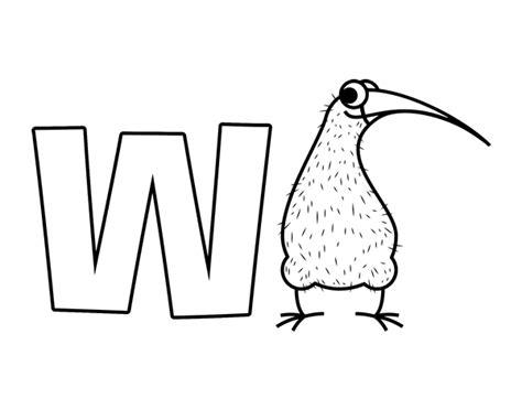 Dibujo de W de Kiwi para Colorear   Dibujos.net