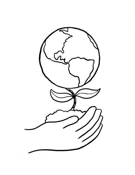 dibujo del planeta tierra para colorear | diseño ...