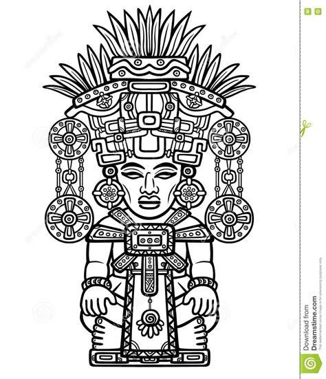 Dibujo Linear: Imagen Decorativa De Una Deidad India ...