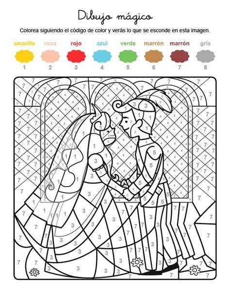 Dibujo mágico de boda de príncipes: dibujo para colorear e ...