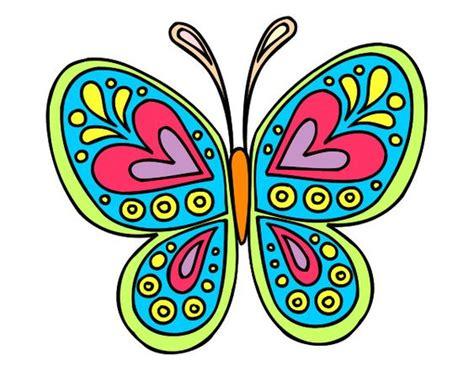 Dibujo Mandala mariposa pintado por ELIANA_02 | nuevos ...