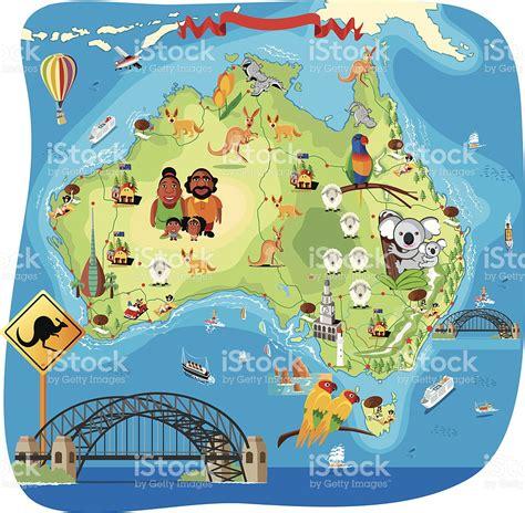 Dibujo Mapa De Australia Illustracion Libre de Derechos ...