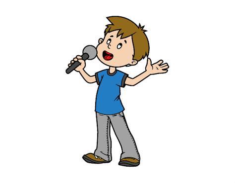 Dibujo niño cantando   Imagui