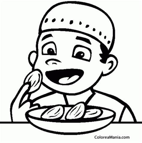Dibujo niño comiendo   Imagui