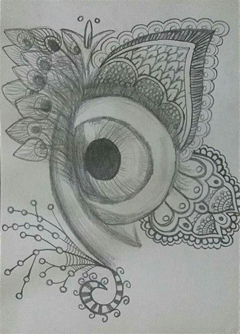 Dibujo, ojo, lapiz, zentangle, blanco y negro, hipster ...
