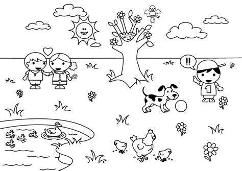 Dibujo para colorear 2b primavera   Img 26891