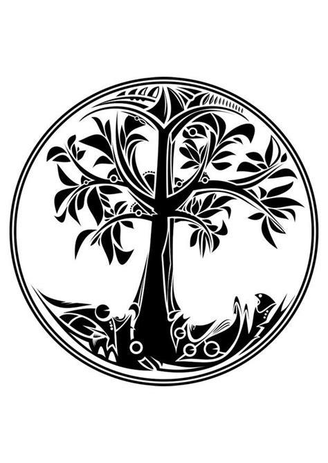 Dibujo para colorear árbol de la vida   Img 29793