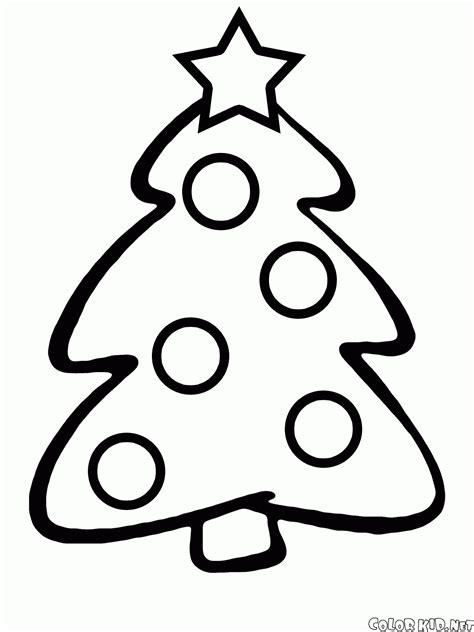 Dibujo para colorear - Árbol de Navidad para los niños