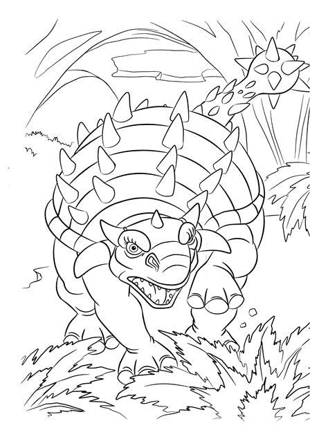 Dibujo para colorear   Dinosaurio enojado