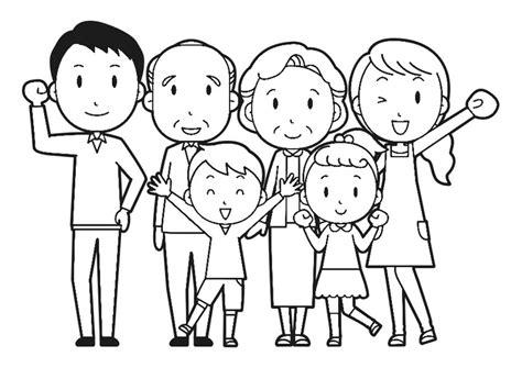Dibujo para colorear familia   Img 30253