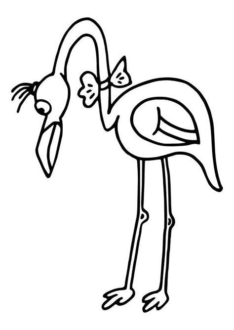 Dibujo para colorear Flamenco - Img 10461