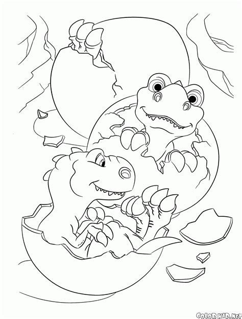 Dibujo para colorear   Ice Age 3: El origen de los dinosaurios