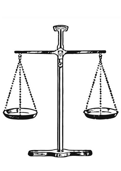 Dibujo para colorear Juez - balanza de justicia - Img 13285