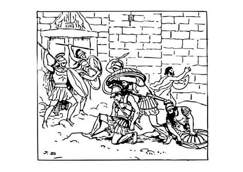 Dibujo para colorear La muerte de Aquiles   Img 10453