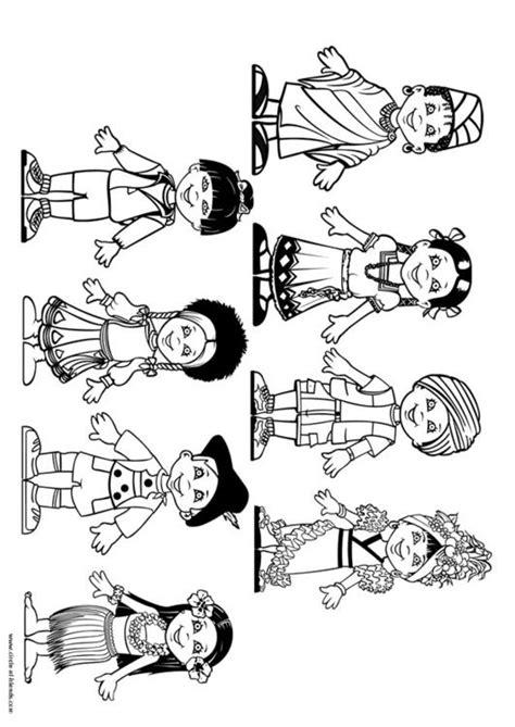 Dibujo para colorear Niños del mundo - Img 9281
