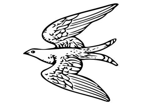 Dibujo para colorear pájaro volando - Img 20703