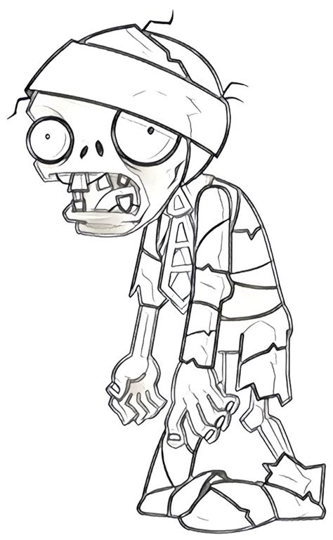Dibujo para colorear Plants vs Zombies 11